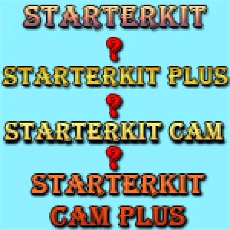 Ajax StarterKIT  vs  Ajax StarterKIT plus vs  Ajax StarterKIT Cam vs  Ajax StarterKIT Cam Plus