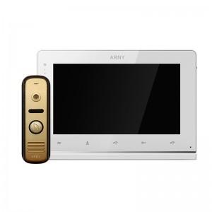 Видеодомофон ARNY AVD-7110 white\gold цена