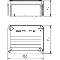 Распределительная коробка T100, закрытая