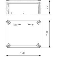 Распределительная коробка T160, закрытая