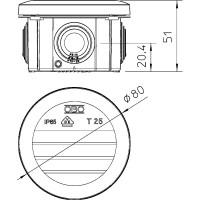 Распределительная коробка T25, вставное уплотнение