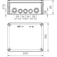 Распределительная коробка T250, вставное уплотнение