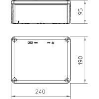 Распределительная коробка T250, закрытая