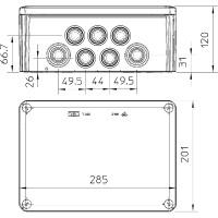 Распределительная коробка T350, вставное уплотнение