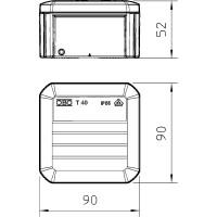 Распределительная коробка T40, закрытая