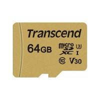 Transcend MicroSDXC 500S 64GB Class 10 UHS-I U3 + adapter (TS64GUSD500S)