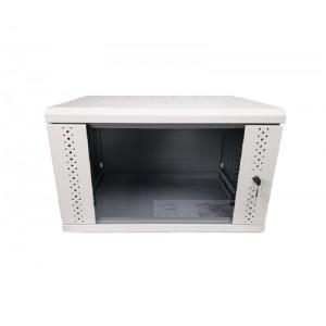 Шкаф настенный 4U, 600х350х284 (Ш * Г * В), стекло, серый