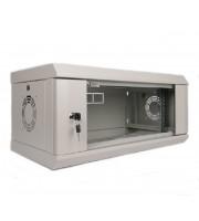 Шкаф серверный настенный 4U, 600х350х284 мм (Ш * Г * В), стекло, серый
