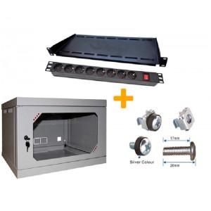 Шкаф серверный настенный 6U, 570x450x390 мм (Ш * Г * В), акрилл