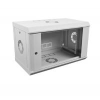 Шкаф серверный настенный 9U, 600х350х506 мм (Ш * Г * В), стекло, серый