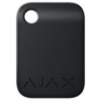 Защищенный бесконтактный брелок Ajax Tag black для клавиатуры