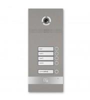 Многокнопочная IP вызывная панель BAS-IP BI-04FB SILVER на 4 абонента с 3D распознаванием лиц