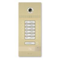 Многокнопочная IP вызывная панель BAS-IP BI-12FB GOLD на 12 абонентов с 3D распознаванием лиц
