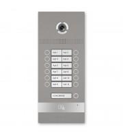 Многокнопочная IP вызывная панель BAS-IP BI-12FB SILVER на 12 абонентов с 3D распознаванием лиц