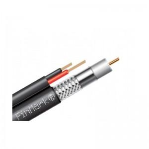 Абонентский коаксиальный кабель FinMark F5967BVcu-2x0.75 POWER с дополнительными токоведущими проводниками