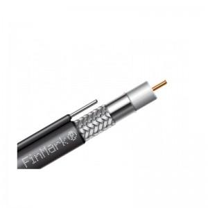 Комбинированный кабель для видеонаблюдения FinMark F690BVM+2x0.75 CCA черный с тросом