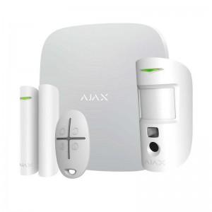 Стартовый комплект системы безопасности с фотоверификацией тревог Ajax StarterKit Cam Plus White